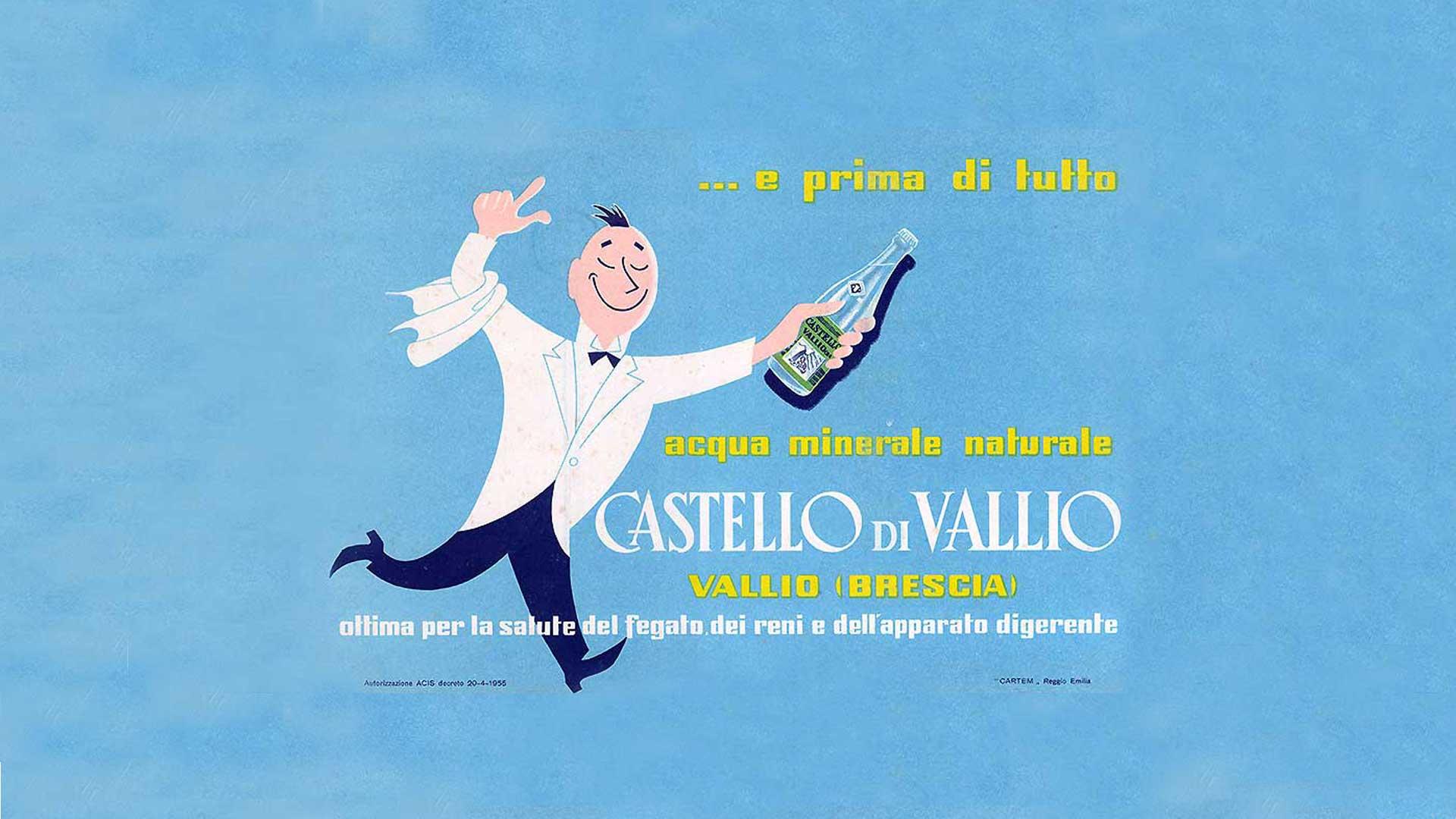 prima pubblicità acqua castello